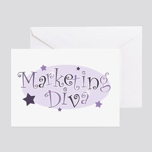 """""""Marketing Diva"""" [purple] Greeting Cards (Package"""